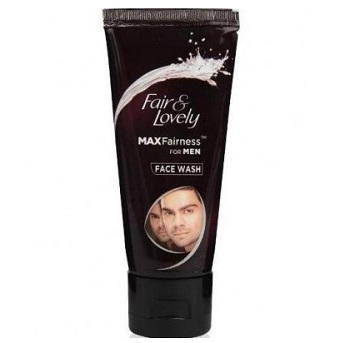 fair n love;y fairness face wash in india for men