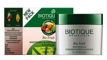 biotique  men's fairness face packs in India