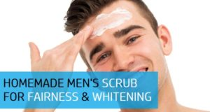 homemade men's face scrub for fairness and whitening