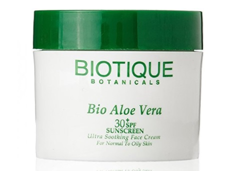 Biotique Bio Aloe Vera Face and Body Sun Cream Spf 30+