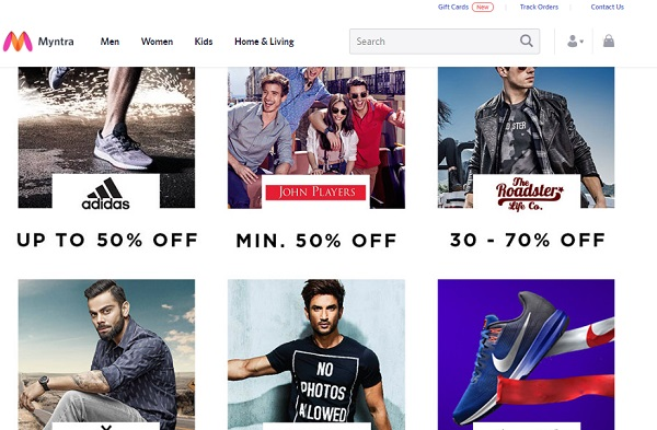 myntra online shopping sites