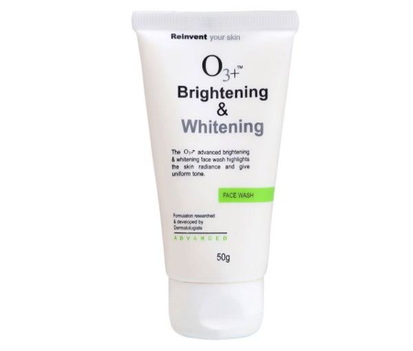 o3 whitening face wash