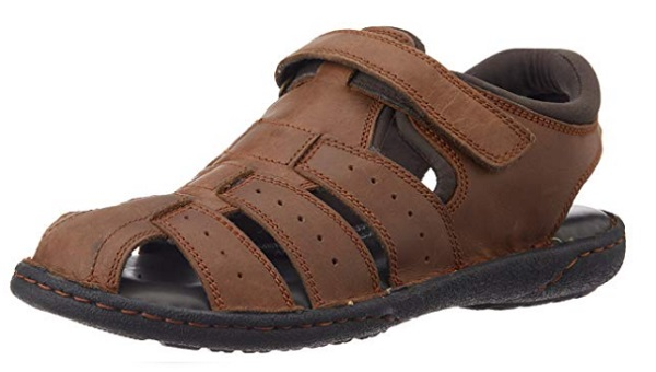 Hush Puppies Men's Fishermen Bounce Leather Athletic & Outdoor Sandals