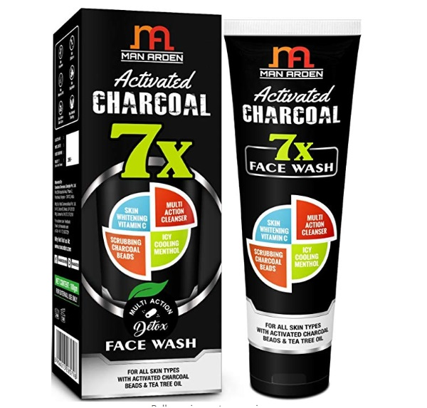 Man Arden 7X Activated Charcoal Face Wash