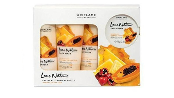 Love Nature Facial Kit Tropical Fruits For Normal To Dry Skin