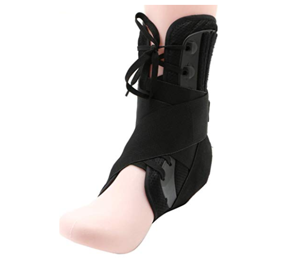 CGT Ankle Brace Supportm Lace Up Adjustable Stabilizer Elastic Compression Foot Pain Relief