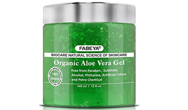 FABEYA BioCare Natural Organic Aloe Vera Gel - No Parabens and Sulphates