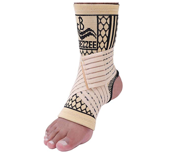 Kurtzy Leg Splint Lightweight Foot Ankle Support with Breathable Compression Straps for Plantar Fasciitis Swollen Feet Sprains Injury 2 Pcs