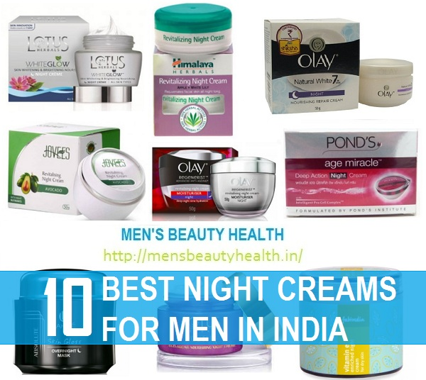 best night creams for men in india