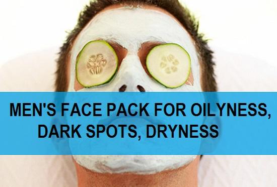 mens face pack for dark spots