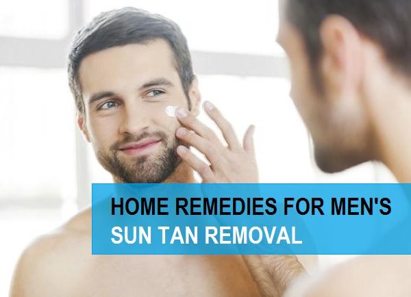 tips for Men's Sun Tan Removal