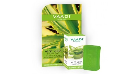 Vaadi Herbals Aloe Vera Facial Bar With Extract Of Tea Tree Anti-Pimple