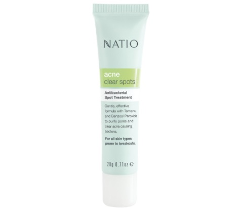 Natio's Acne Clear Spots Antibacterial Treatment