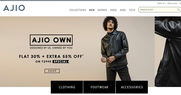 ajio online shopping sites