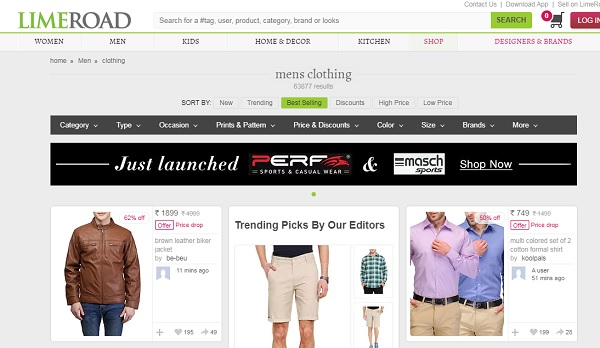 limeroad online shopping sites