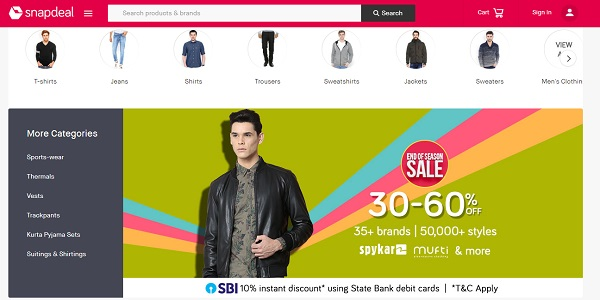 snapdeal online shopping sites