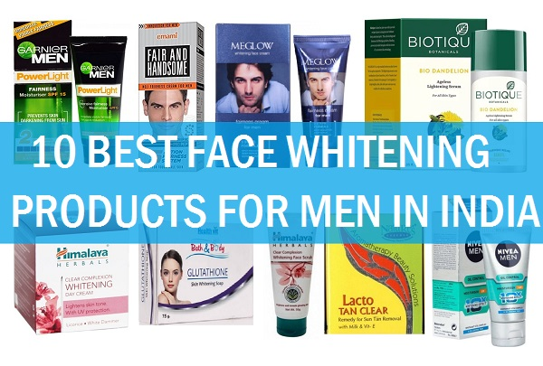 best face whitening products for men in india