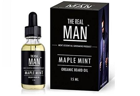 the real man Beard & Mustache Oil Maple Mint
