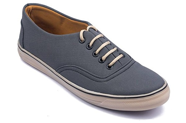 Rosso Italiano Men's black Casual Canvas sued Sneakers Shoe