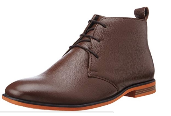 BATA Men's Bill Brown Leather Boots