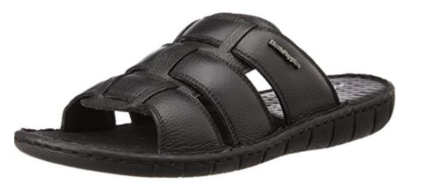 Hush Puppies Men's Sedan Mule Leather Flip Flops Thong Sandals