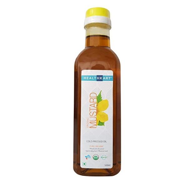 HealthKart Cold Pressed Organic Mustard Oil
