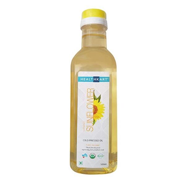HealthKart Cold Pressed Organic Sunflower Oil