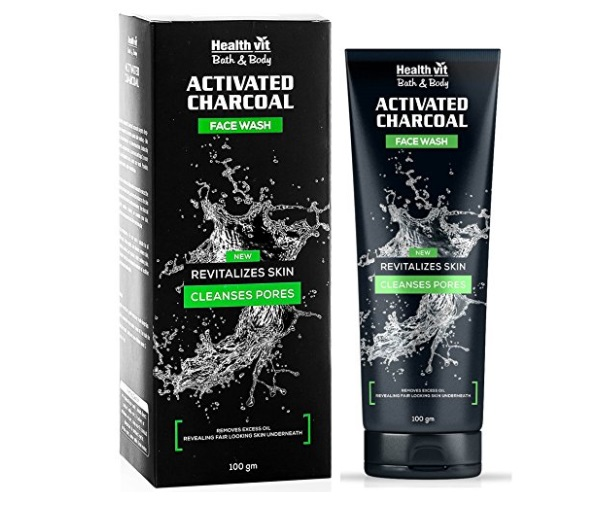 Healthvit Activated Charcoal Facewash