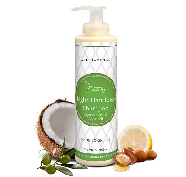 Nature Lush Organic Argan Anti-Hair Loss saw palmetto Shampoo
