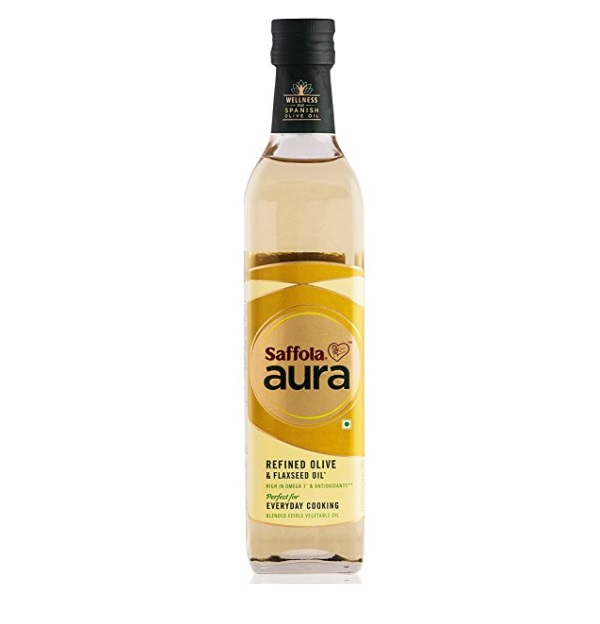 Saffola Aura Refined Olive & Flaxseed Oil