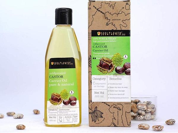 Soulflower Castor Oil for Hair, Skin and Beard Growth