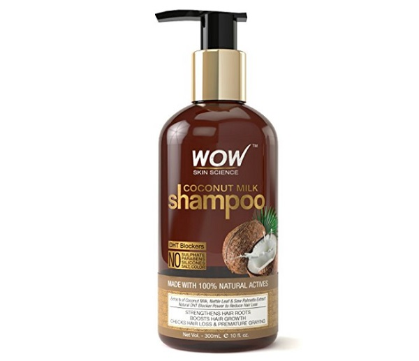 WOW Coconut Milk saw palmetto dht block shampoo