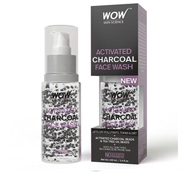 Wow Activated Charcoal Face Wash with Activated Charcoal Beads,
