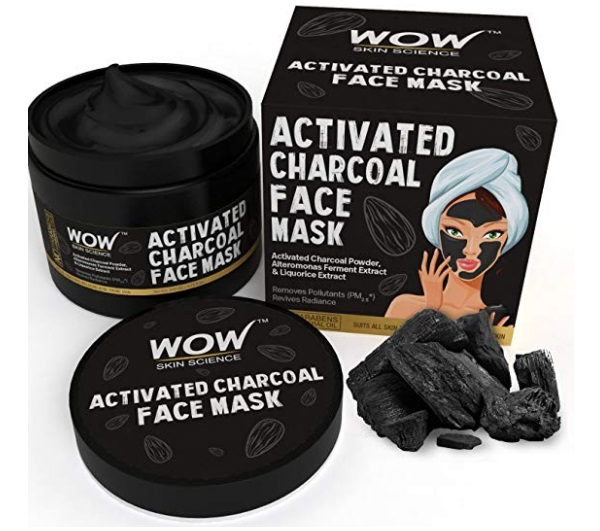 wow charcoal face mask