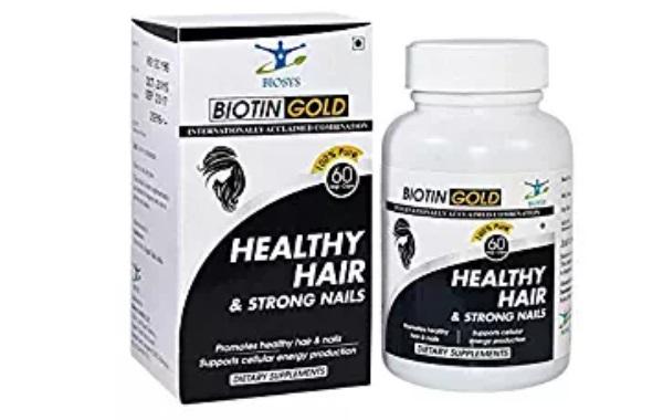 BIOSYS Natural Biotin for Hair, Skin and Nails 5000 Mcg Capsules