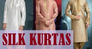 Latest Designer Silk Kurtas for Men