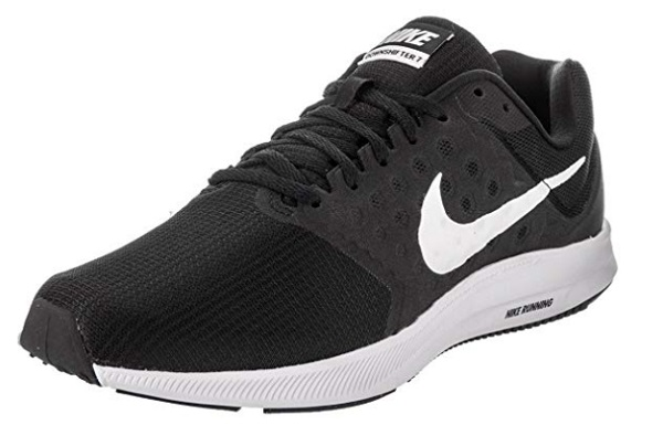 Nike Men's Downshifter-7 Black White Running Shoes