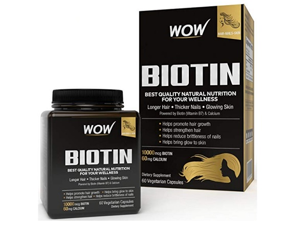 Wow Biotin Maximum Strength Veg Capsule 10,000 mcg