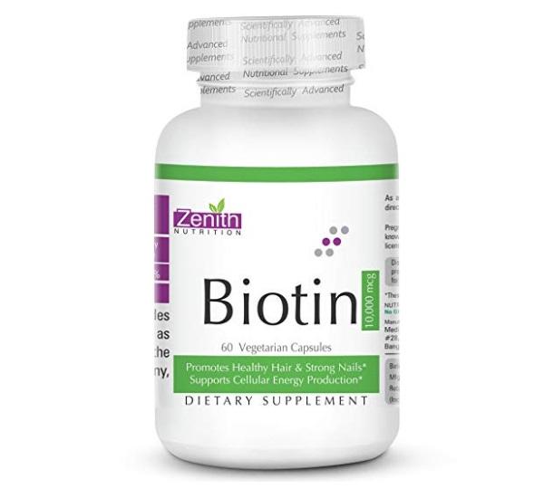 Zenith Nutrition Biotin capsules