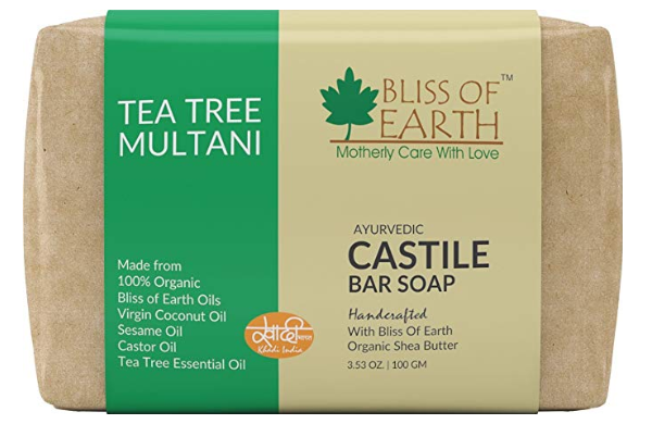 Bliss of Earth Organic Tea Tree and Multani Ayurvedic Handmade Soap
