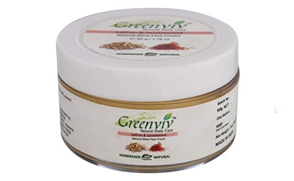 Greenviv Natural Face Night Cream, Saffron & Sandalwood