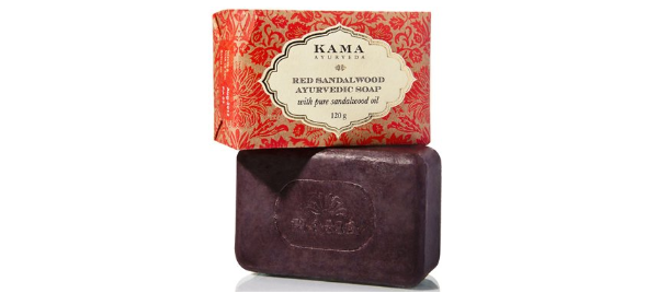 Kama Ayurveda Red Sandalwood Ayurvedic Soap with Pure Sandalwood Oil