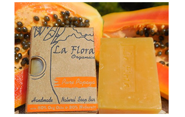 La Flora Organics Pure Papaya Handmade Soap Bar