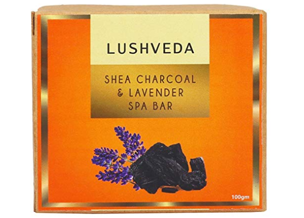 Lushveda Shea Charcoal and Lavender Spa Bar