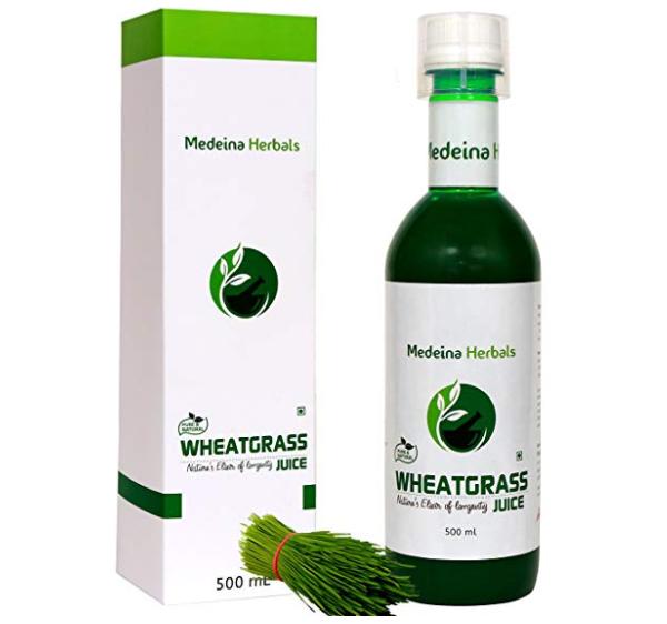 Medeina Herbals 100% Pure Wheatgrass Juice With Tulsi & Pudhina