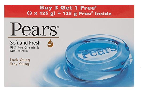 Pears Soft and Fresh Bathing Bar