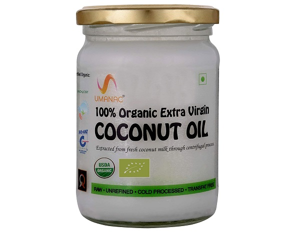 Umanac Organic Cold Processed Raw Extra Virgin Coconut Oil