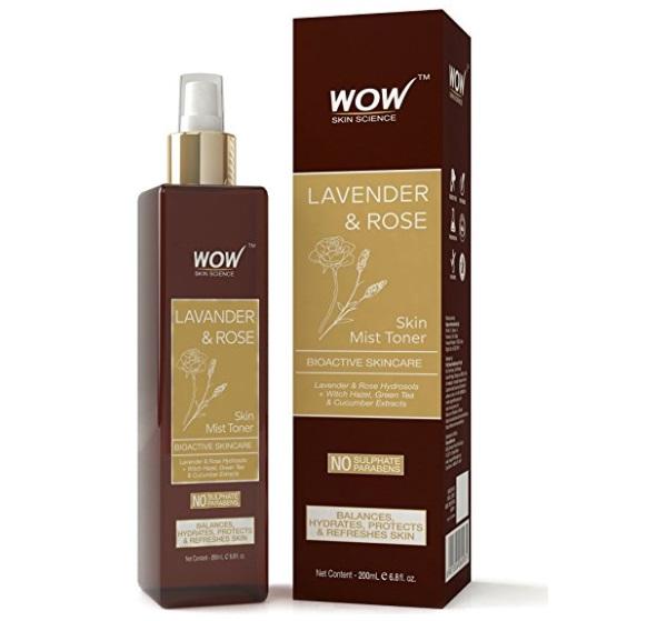 WOW Lavender and Rose Skin Mist Toner