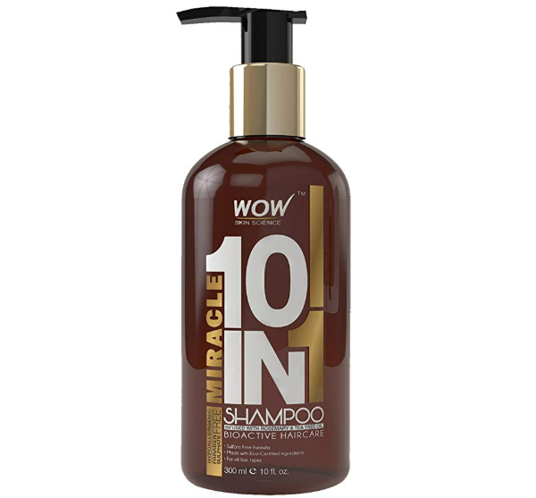 WOW Miracle 10 in 1 No Sulphate and Parabens Shampoo