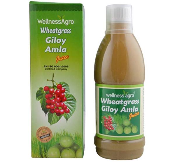 Wellness Agro Wheatgrass Giloy Amla Juice